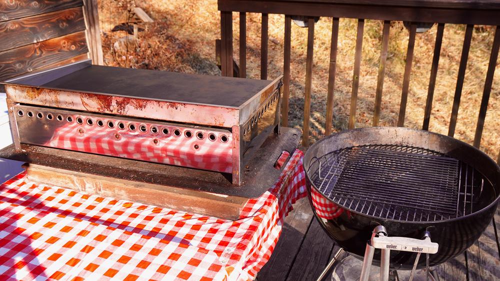 コテージ モンテラック こだわりのバーベキューグリルと鉄板焼き